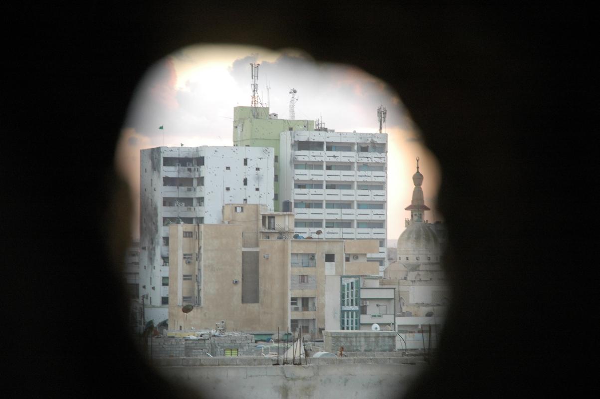 Το κτίριο Tamina από μια σχισμή