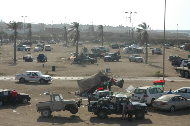 Tripoli plage, campement des rebelles de Misrata